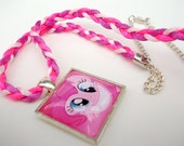 Pinkie Pie Tile Necklace - My Little Pony Friendship Is Magic