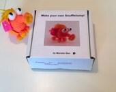 Knitting kit! Orange Blondie Snufflelump!!  DIY Plush toy- Animal / Alien / Monster