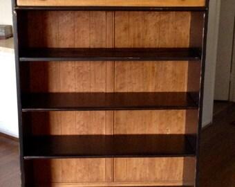 Black Farmhouse Shabby Chic Bookcase, Display Cabinet