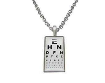 Rectangular Optometrist Pendant Necklace