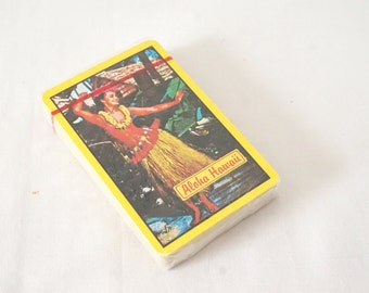 Vintage Hawaii Playing Cards Travel Promo Advertising