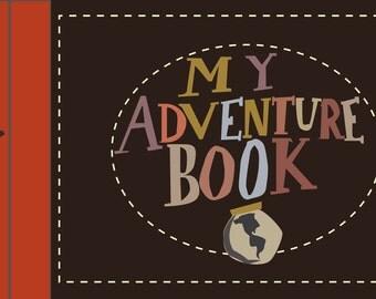 "custom sized 3x5 notebook ""my adventure book"""