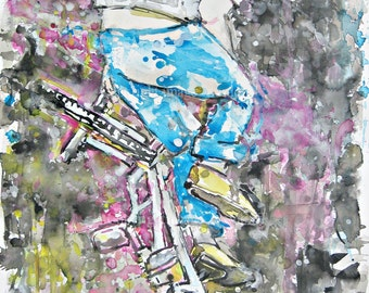 BMX poetry in motion , original painting