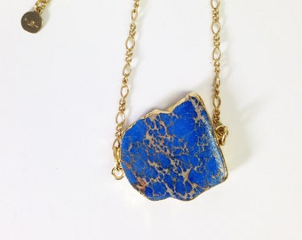 Dark Blue Jasper Necklace