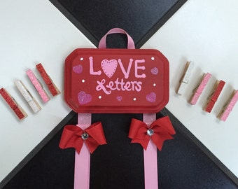 Valentine's Day Card Holder Love Letters Greeting Card Holder Holiday Card Display valentine decor
