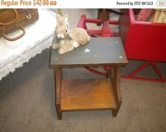 SUMMER SALE 1 Step Country Wooden Stool. Country,Primitive, Child's Stool, Step Stool
