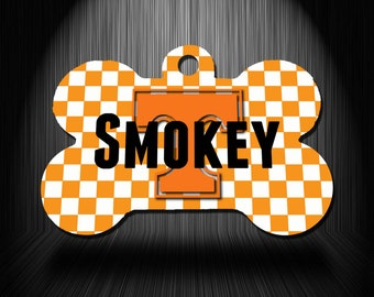 Tennessee Personalized Printed Pet ID Tag / Pet Gifts / Gifts for Pets / Custom Pet Tag / Dog ID Tag / Cat ID Tag / Pet Name Tag  Collar Tag