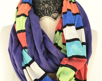 Colorful  infinity scarf,  chunky soft scarf, Christmas stocking gift, Top selling shops items, Autumn gift ideas, gifting ideas, By Piyoyo