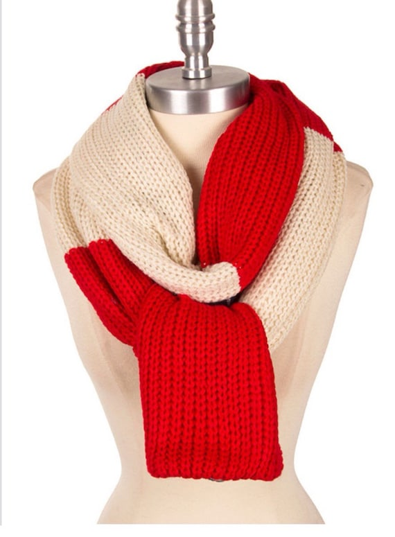 Knitting Items To Sell : Best selling shop item plaid knit scarf colorblock color