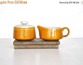 ON SALE Mid Century Yellow Cream and Sugar Set - Franciscan Ceramic