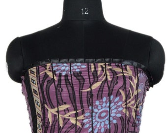 Vintage Up-cycle Silky Sari Maxi Sun Dress India DY21