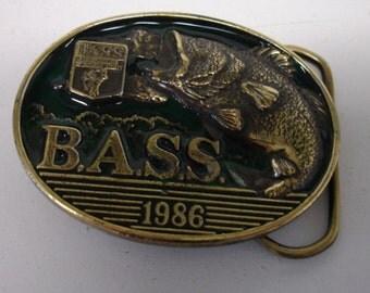 Belt Buckle 1986 Bass Angler Sportsman Society Limited Edition Fisherman Buckle Brass Buckle
