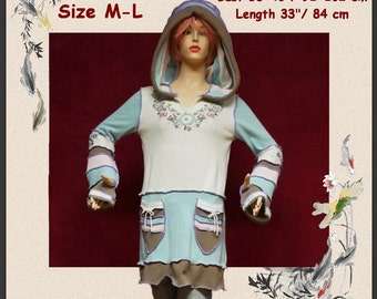 Elf sweater, size M, size L, pullover, hoodie, hippie, patchwork, fairy