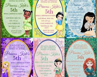 Disney Princess Birthday Invitation Download - Anna