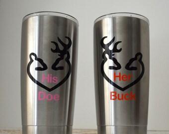 Buck decal his doe her buck
