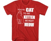 cat to be kitten me right meow t-shirt funny cat shirt gifts for cat lovers i love cats humorous kitten tees kitties t shirts guys xl mens