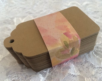 Plain Kraft Tags, Country Wedding Tags, Blank Brown Paper Tags - Large 3.5 Inch- Set of 125