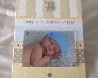 BABY FRAME, BOY photo frame, safari theme, cherished photos, picture frame, baby gift