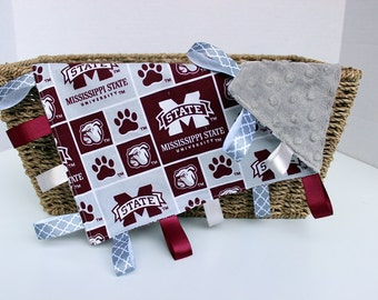 SALE!!! Ready to Ship! Security Blankie - Lovey - Mississippi State Blankie
