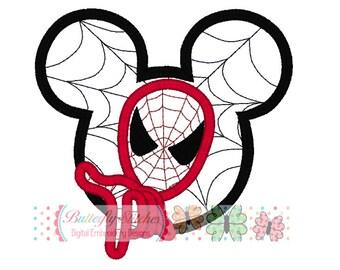 Spiderman Mouse Digital Embroidery Applique Design