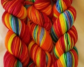 """Saturated Sock Selfstriping  12 color Rainbow """"Gradient"""""""