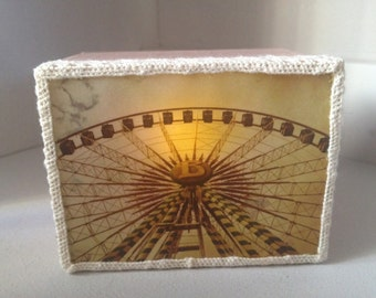 Ferris Wheel Fairground Light Box Ornament
