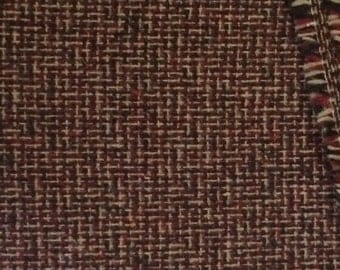 Wool Fabric / Burgundy Wool Fabric / Wool Yardage / Vintage Wool Fabric / Red Wool Fabric / Wine Wool Fabric