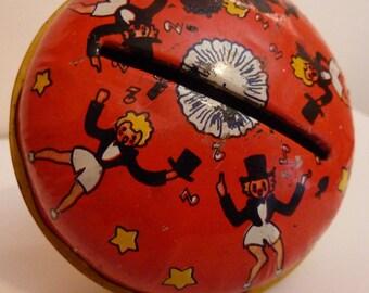 vintage tin litho noise maker 1950