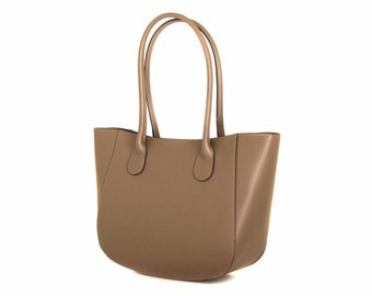 Leather Tote Bag, Taupe Italian Leather Purse, Designer Leather Handbag, Leather Handbag -.- the Anadar  -.-  winter sale 30% off