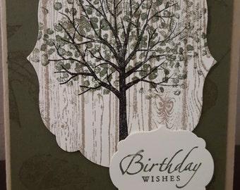 Tree in Green Birthday BDY-11