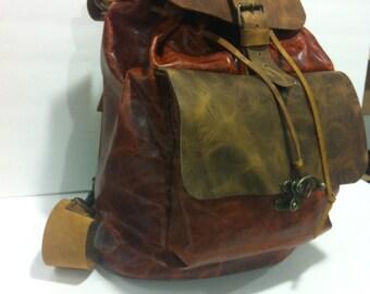 Soft Leather Backpack for Women Backpack-work Cognac Backpack-large Weekend Flight Backpacks with Many pockets-Custom Backpacks