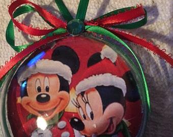 Christmas mickey &minnie ornament