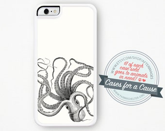 Octopus iPhone Case / Nautical iPhone Case Squid iphone 4 case iphone 4s Case iPhone 5 iphone 5s case iPhone 5C Case Silicone case