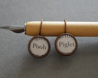Pooh and Piglet Winnie The Pooh Earrings