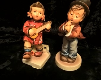 """Hummel Figurines, """" Serenade"""" #85/0 & """"Happiness"""" #86  Set of Two  Free Shipping"""