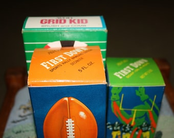 """Avon Football Trio, """"New"""" Vintage, Grid Kid, First Down Decanter and Soap"""