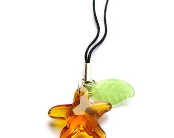 Kingdom Hearts Paopu Fruit Swarovski Cell Phone Charm