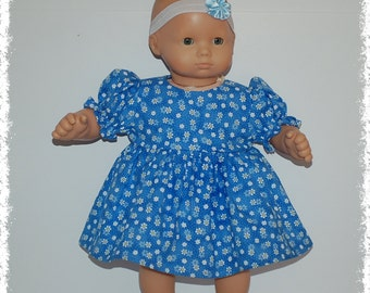 "Short Sleeve Dress w/Bloomers (Bitty Baby 15"" Doll)"