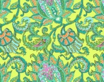 SALE*** Amy Butler Dancing Paisley Lemon Corduroy Fabric