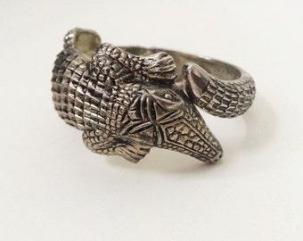 Vintage alligator wrap bracelet
