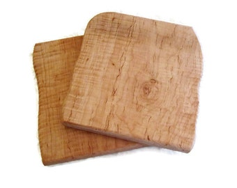 Medium Shaped Tiger Maple Cutting Boards.  Have this engraved for a personalized gift!