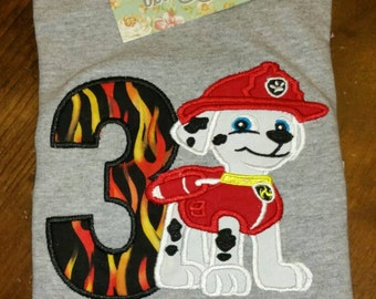 Marshall Paw Patrol Birthday Shirt