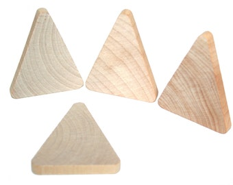 """15- Wood Triangle 2-1/2"""" tall x 2"""" wide x 1/4"""" thick- Triangle Cut Out, Wood Craft Supplies, Triangle Pendant"""