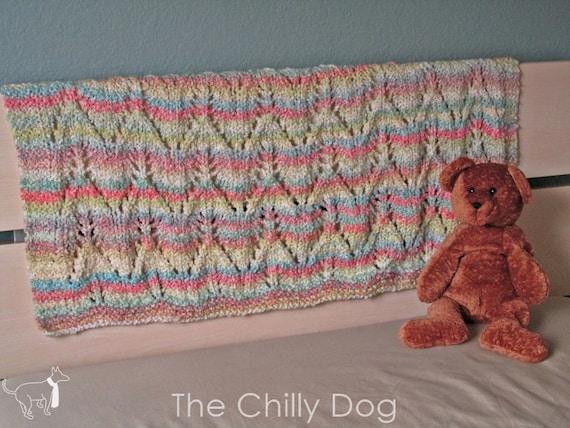 Knitting Pattern For Angel Blanket : Angel Wings Baby Afghan Knit Pattern PDF