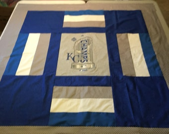KC Kansas City Royals Champs T Shirt Memory Quilt