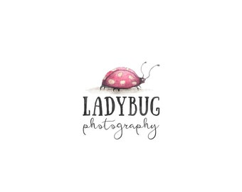 Ladybug Logo, Photography Logo and Watermark,Small Businesess Watercolor Premade Logo design 244