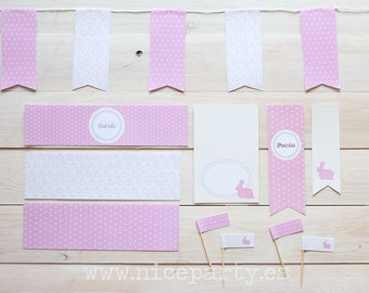 Printable party pack bunnies