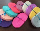 """SALE 100 yards 5/8"""" Fold over elastic - foe - 10 COLORS (10yd/color)"""