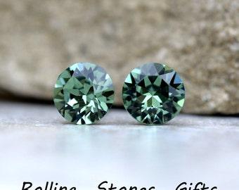 7.27mm Erinite, Swarovski Studs, Xirius, Rhinestone Studs, Swarovski Earrings, Crystal Stud Earrings, Stud Earrings, Rhinestone Stud