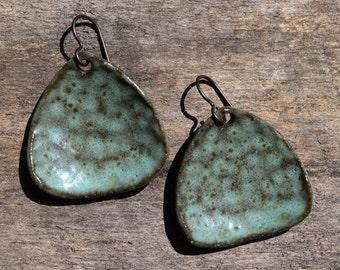 Moody Blue Ceramic Earrings